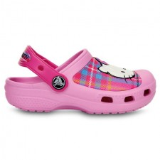 Saboti Crocs Hello Kitty Plaid Clog-image