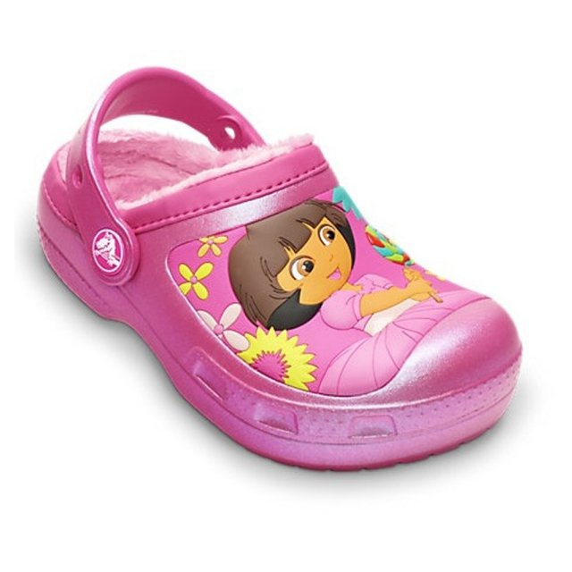 Saboți Copii casual Crocs Dora Lollipops & Flowers Lined  -2