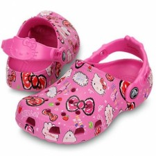Saboti Crocs Classic Hello Kitty Goog time Clog-image