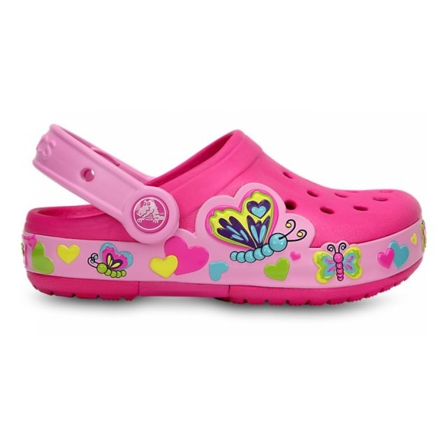 Papuci Fete casual Crocs Crocband Lights Butterfly clog  -5