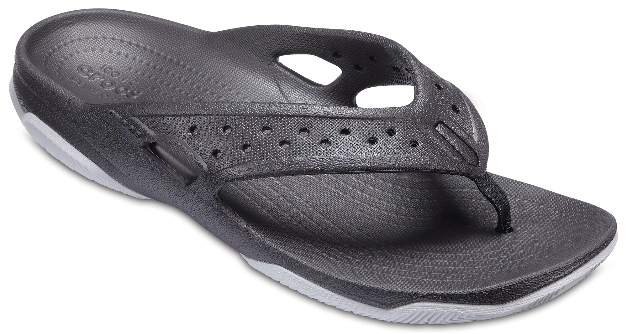 Șlapi Bărbați casual Crocs Mens' Swiftwater Deck Flip Negri -2