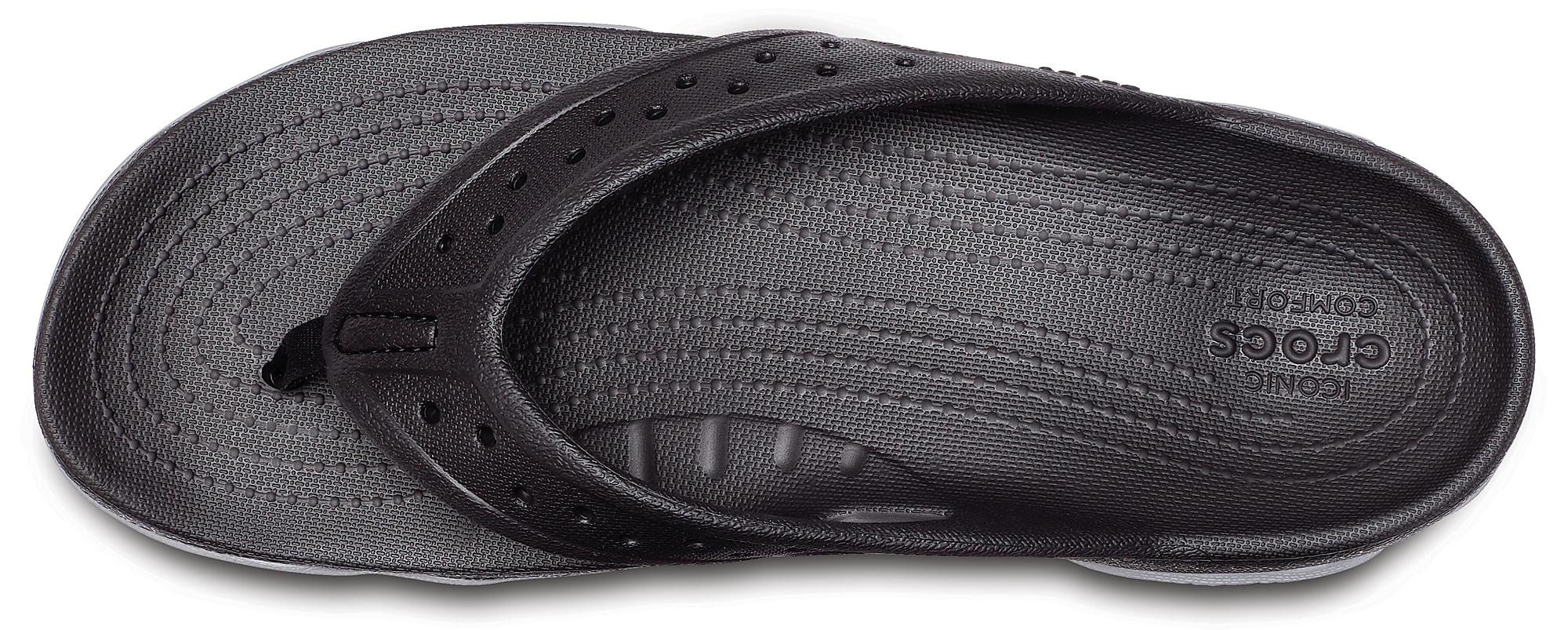 Șlapi Bărbați casual Crocs Mens' Swiftwater Deck Flip Negri -3