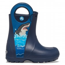 Cizme Crocs Boys' Crocs Fun Lab Shark Patch Rain Boot-image