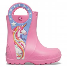 Cizme Crocs Girls' Crocs Fun Lab Unicorn Patch Rain Boot-image