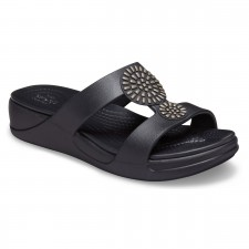 Papuci Crocs Monterey Diamante Slip-On Wedge-image