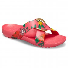 Papuci Crocs Serena Printed Cross Band Slide-image