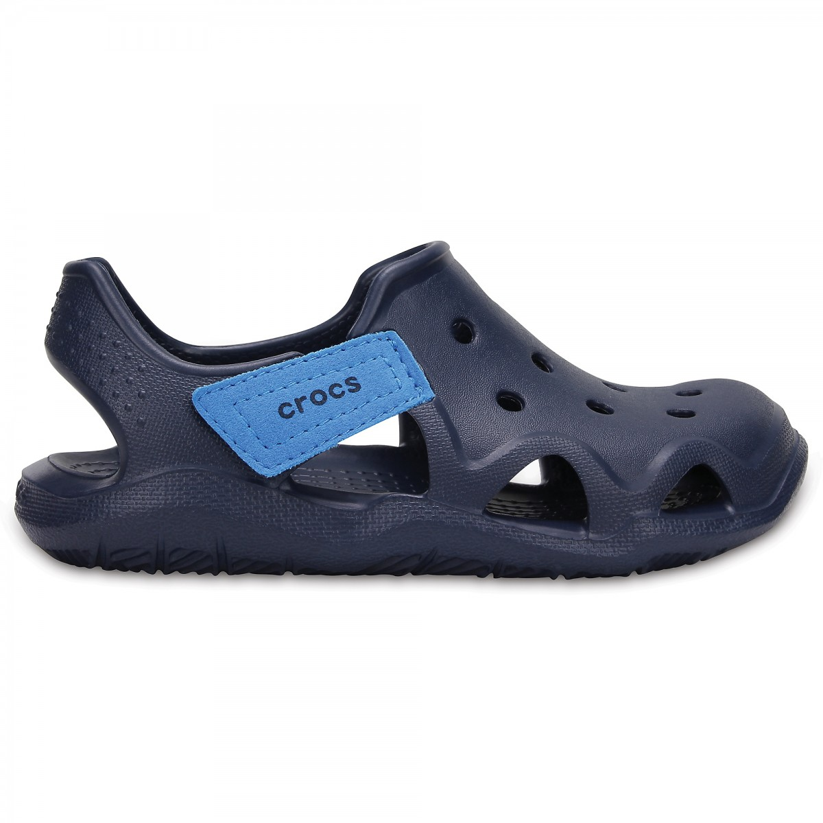 Saboți Copii casual Crocs Swiftwater Wave K Albaștri -13