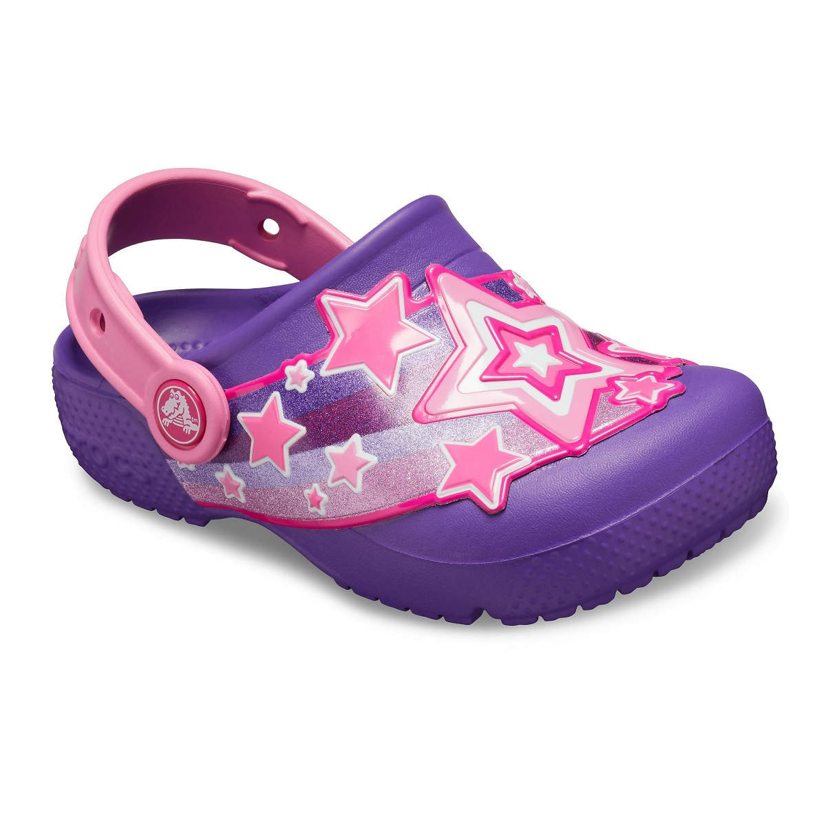 Saboți Fete casual Crocs Crocs Fun Lab Shooting Stars Clog Mov -1