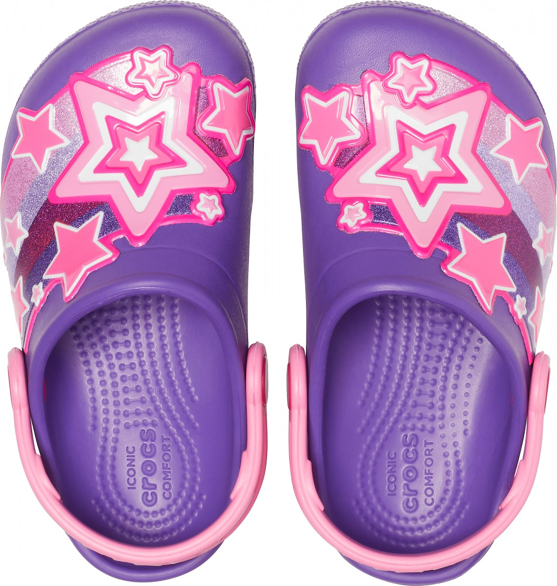 Saboți Fete casual Crocs Crocs Fun Lab Shooting Stars Clog Mov -3