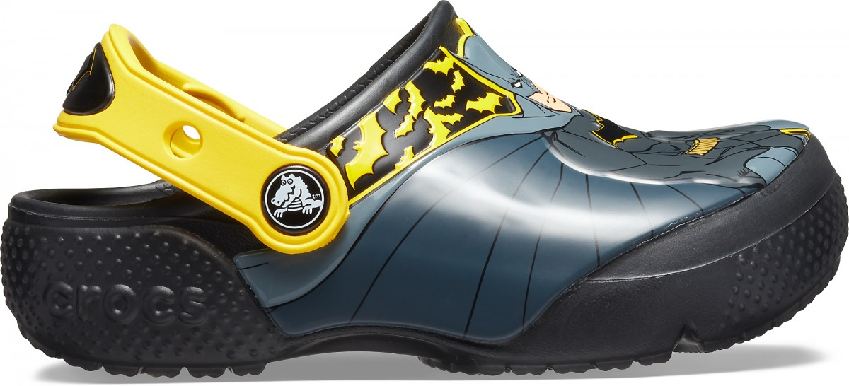 Saboți Băieți casual Crocs Crocs Fun Lab Iconic Batman Clog Negri -2