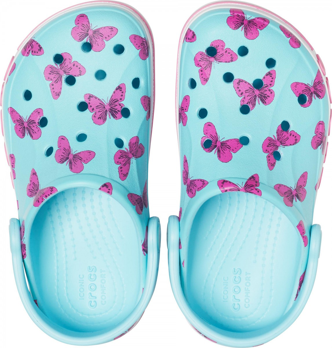 Saboți Copii casual Crocs Bayaband Seasonal Printed Clog K Albastri deschisi -3