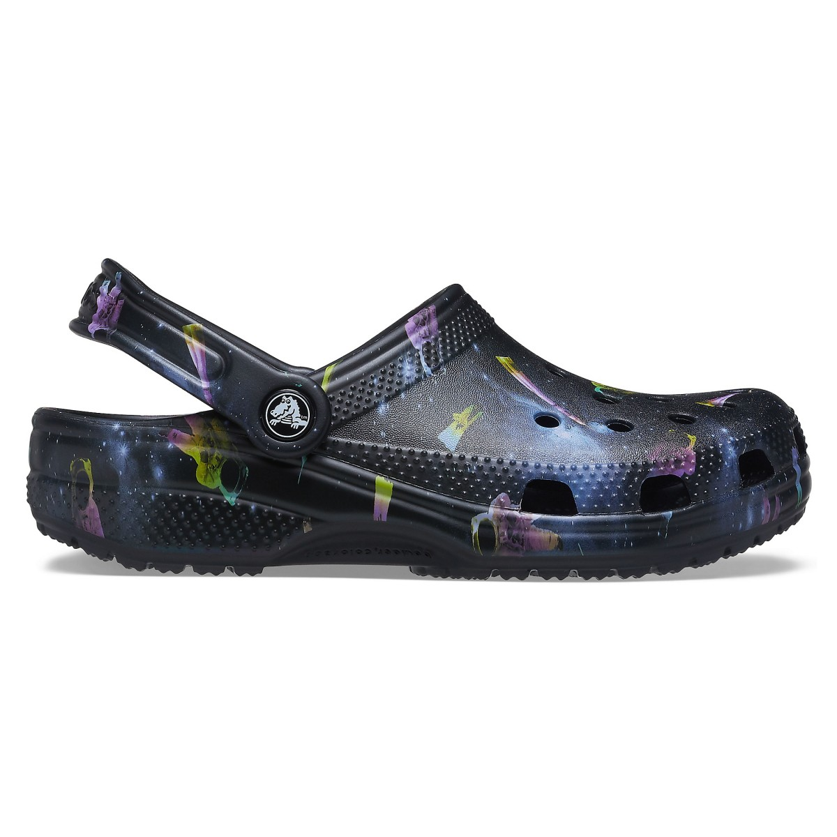 Saboți Adulti Unisex casual Crocs Classic Out of this World II Clog Negri -5