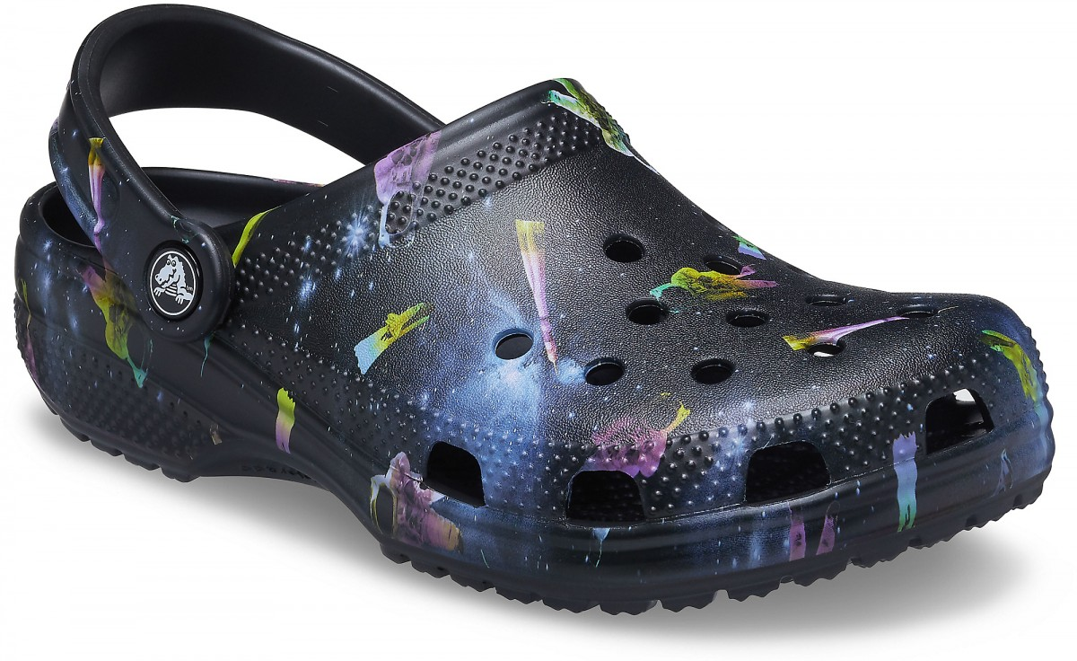 Saboți Adulti Unisex casual Crocs Classic Out of this World II Clog Negri -6