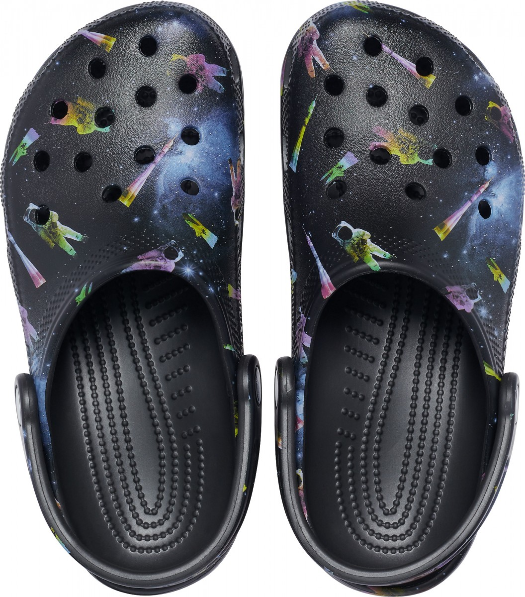 Saboți Adulti Unisex casual Crocs Classic Out of this World II Clog Negri -7