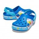 Saboți Copii Plajă Crocs Crocs Fun Lab Baby Shark Band Clog Albastri -2
