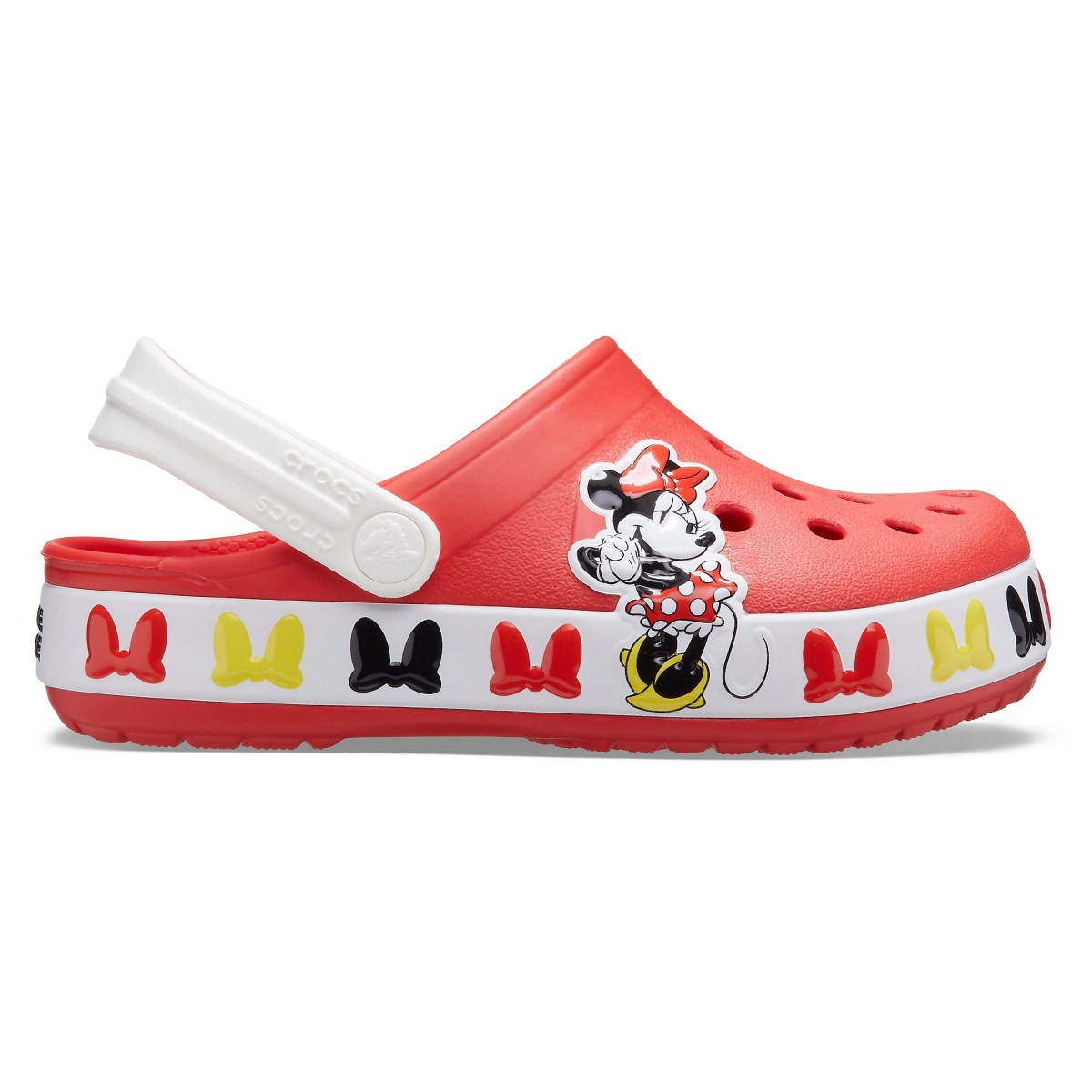 Saboți Fete de casă Crocs Crocs Fun Lab Disney Minnie Mouse Band Clog Roșii -1