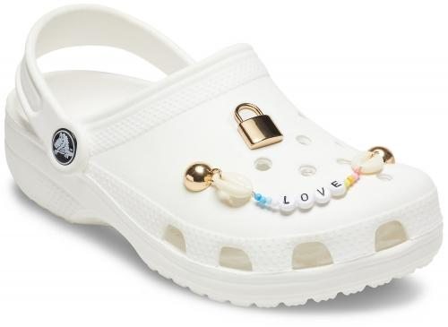 Copii Crocs Elevated Love Charm Chain Pack Auriu -2